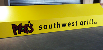 Durham Awning Sign MOES Southwest